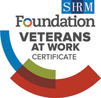 SHRM Foundation Veterans at Work certificate