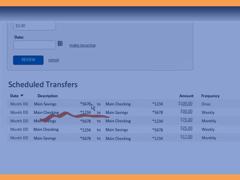 internal transfers